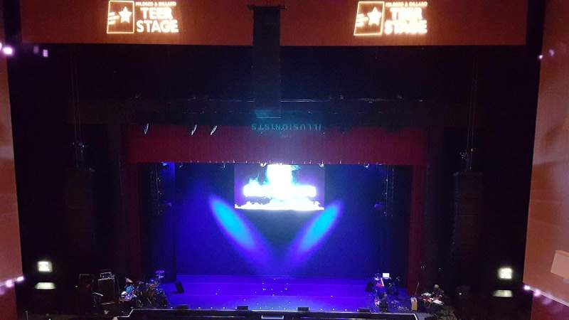 Seating view for Durham Performing Arts Center Section Balcony 9 Row A Seat 110