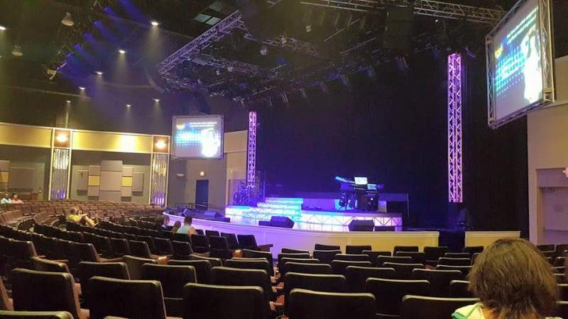 Seating view for Legends In Concert Theater Section AA Row VIP Booth Seat 2