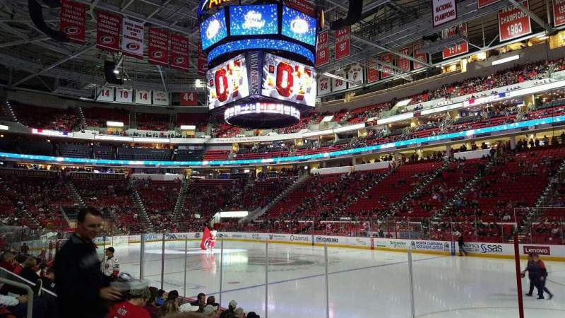 Seating view for PNC Arena Section 101  Row H Seat 2