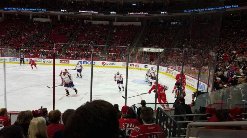 Seating view for PNC Arena Section 101  Row H Seat 3
