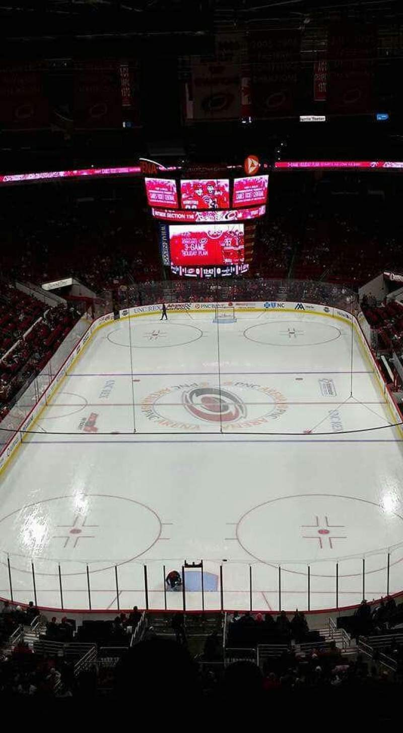 Seating view for PNC Arena Section 314 Row F Seat 3