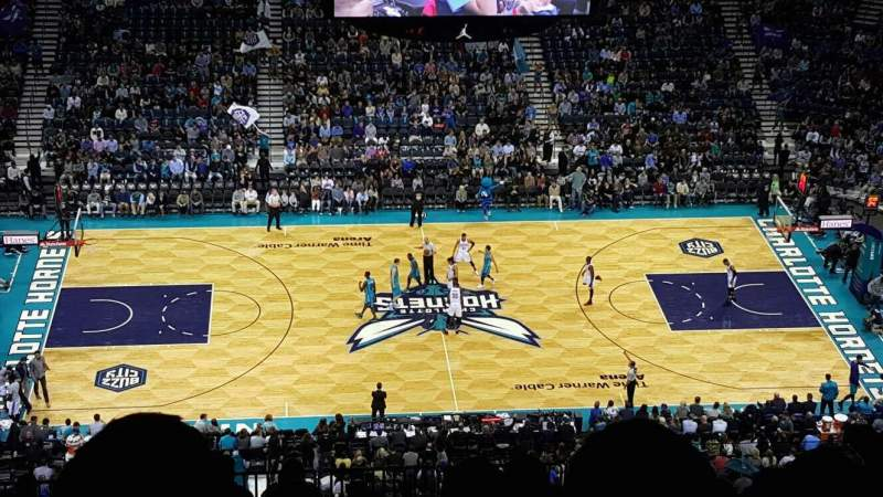 Seating view for Spectrum Center Section 209 Row Q Seat 110