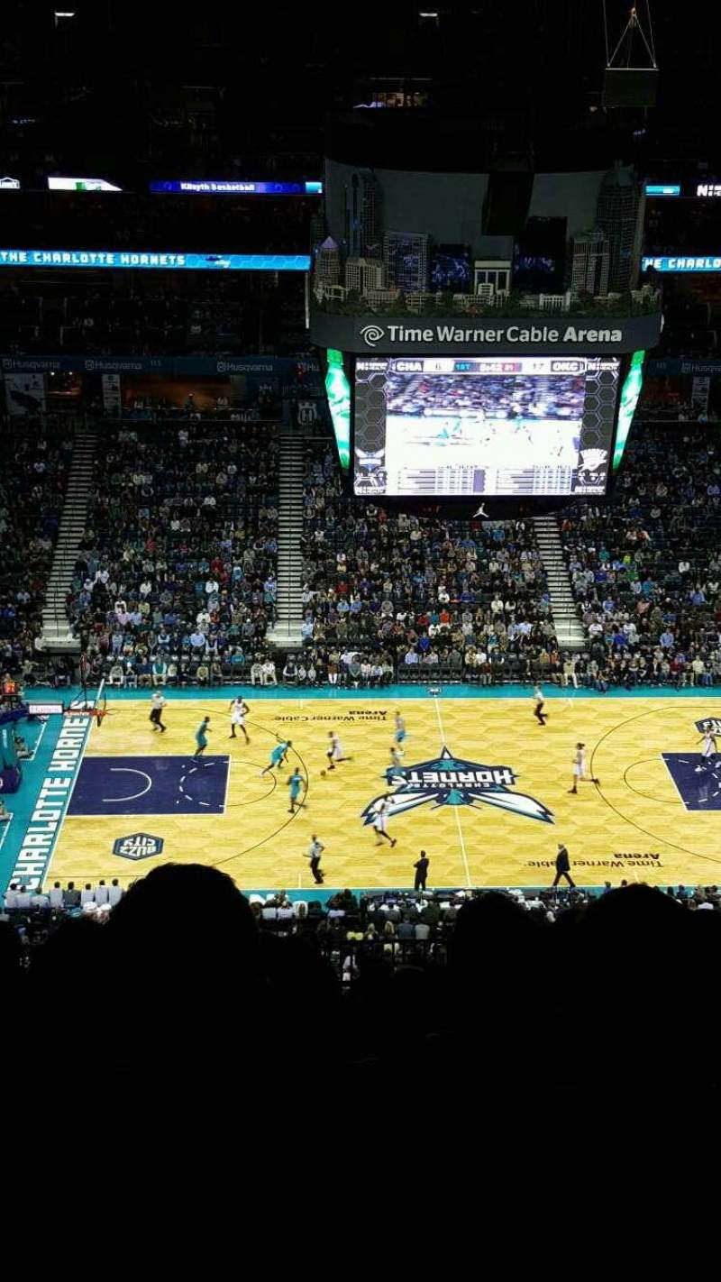 Seating view for Spectrum Center Section 209 Row Q Seat 112