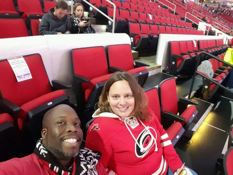 Seating view for PNC Arena Section 101 Row d Seat 3,4