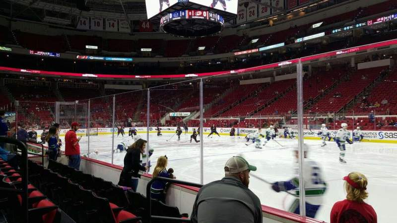 Seating view for PNC Arena Section 101 Row d Seat 4