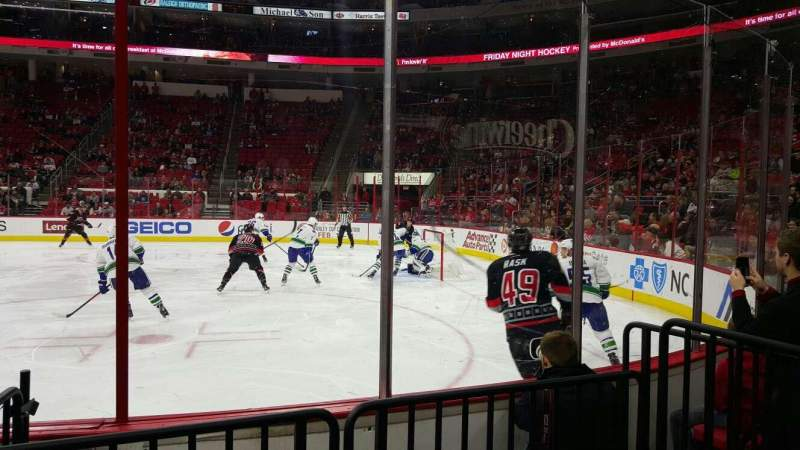 Seating view for PNC Arena Section 101 Row d Seat 5