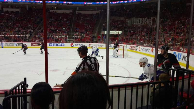 Seating view for PNC Arena Section 101 Row d Seat 3