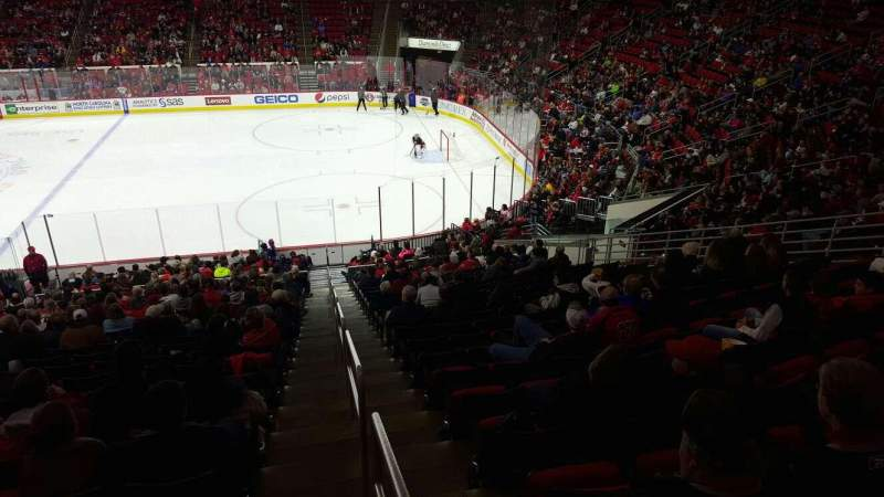 Seating view for PNC Arena Section 101 Row all Seat all