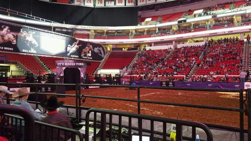 Seating view for PNC Arena Section 104 Row d Seat 9
