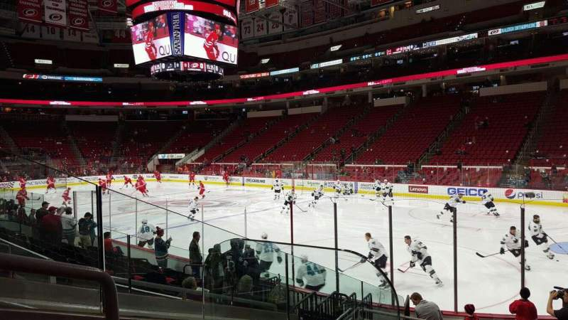 Seating view for PNC Arena Section 130 Row L Seat 9