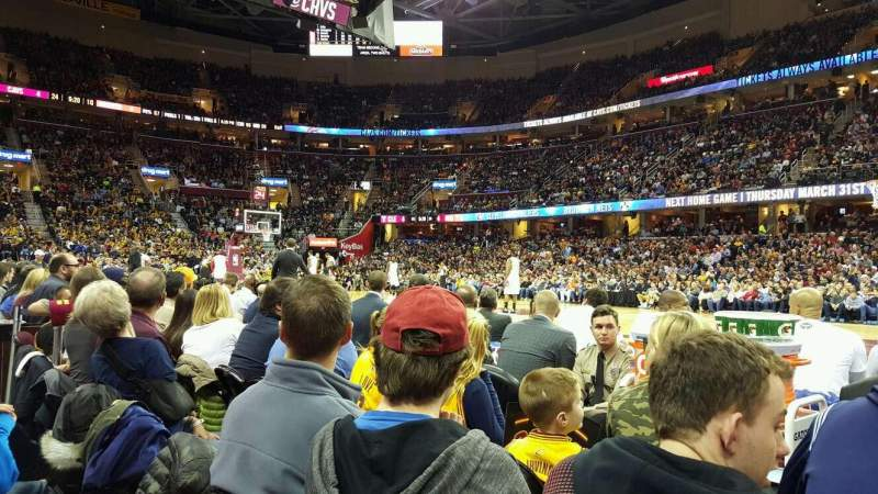 Seating view for Quicken Loans Arena Section 127 Row 1 Seat 10