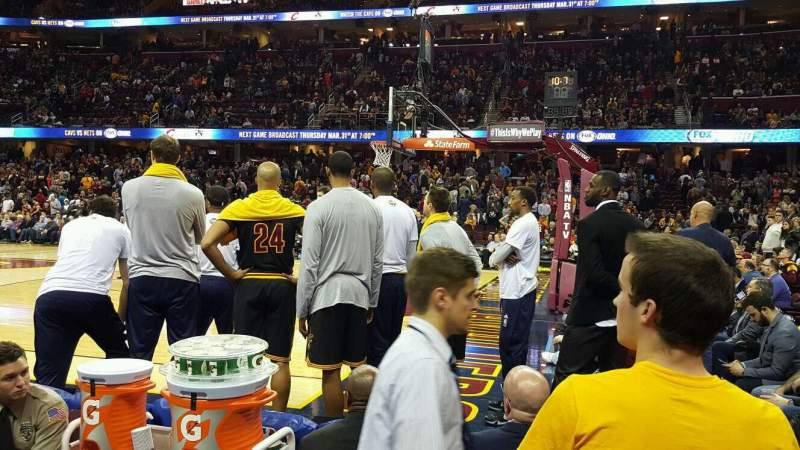 Seating view for Quicken Loans Arena Section 127 Row 1 Seat 9