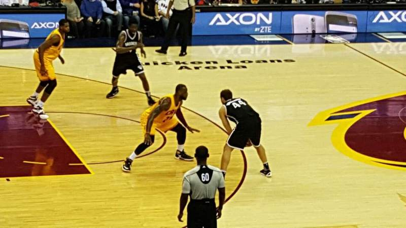 Seating view for Quicken Loans Arena Section C107  Row 15 Seat 12