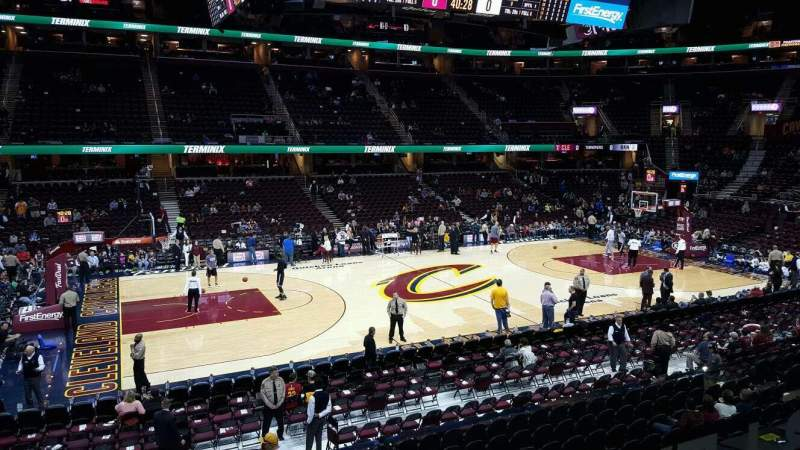 Seating view for Quicken Loans Arena Section C107  Row 15 Seat 11