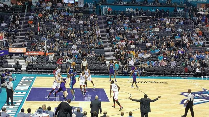 Seating view for Spectrum Center Section 106 Row R Seat 10