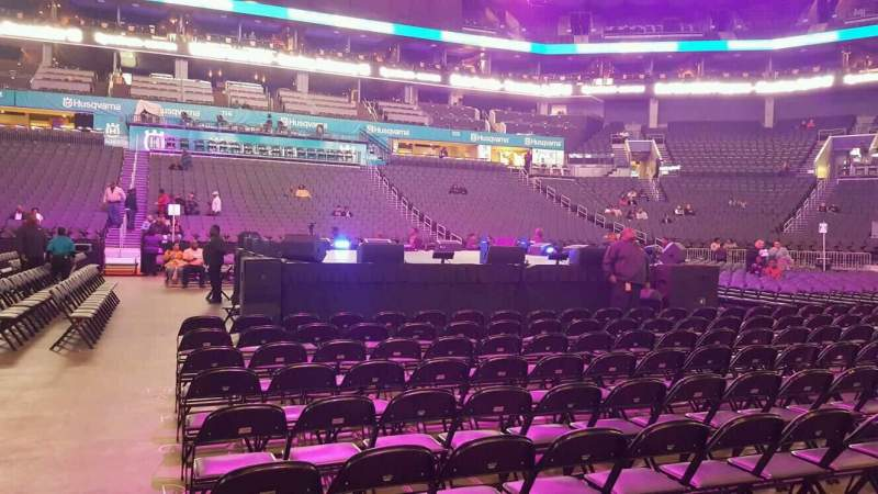 Seating view for Spectrum Center Section 105 Row A Seat 22