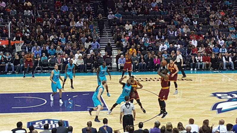 Seating view for Spectrum Center Section 106 Row r Seat 9
