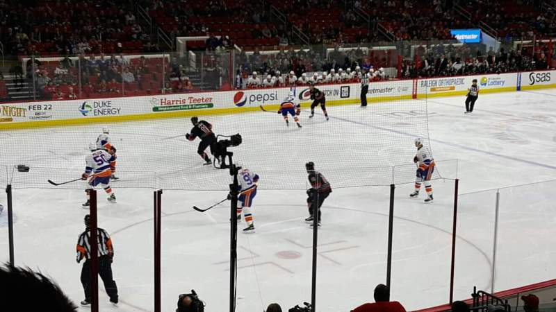 Seating view for PNC Arena Section 123 Row r Seat 8