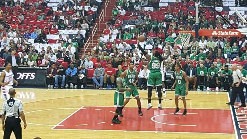 Seating view for Verizon Center Section 112 Row k Seat 15