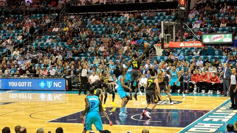 Seating view for Spectrum Center Section 112 Row J Seat 17