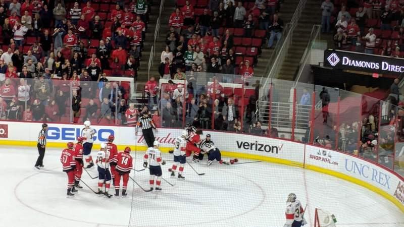 Seating view for PNC Arena Section 101 Row XX Seat 7