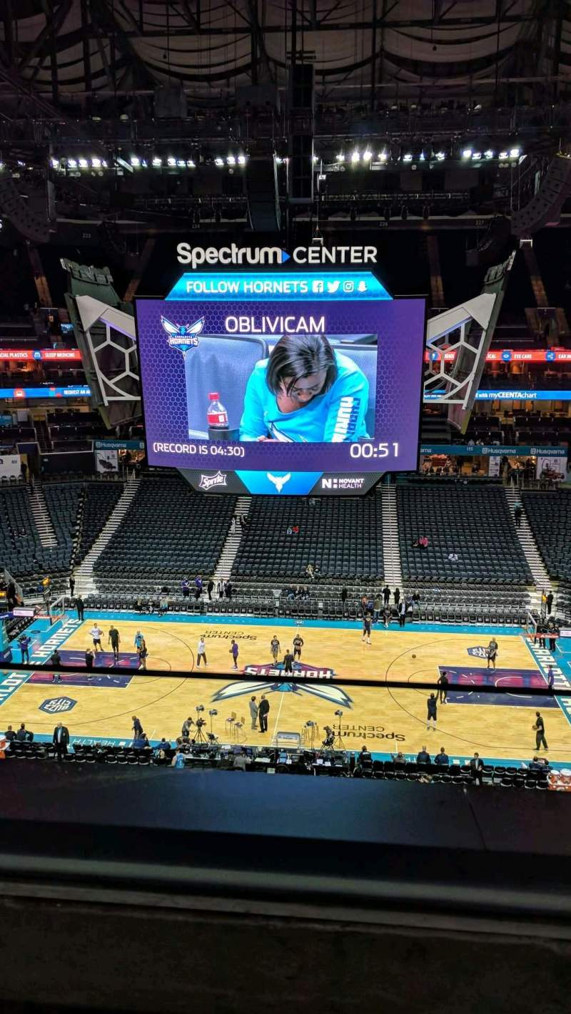 Seating view for Spectrum Center Section 208 Row A Seat 15