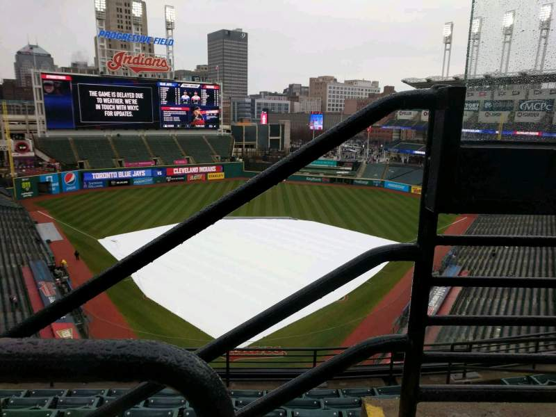 Seating view for Progressive Field Section 554 Row B Seat 7