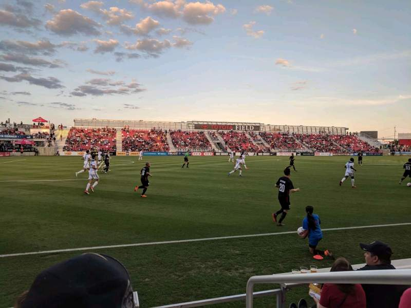 Seating view for Toyota Field Section 109 Row 4 Seat 1