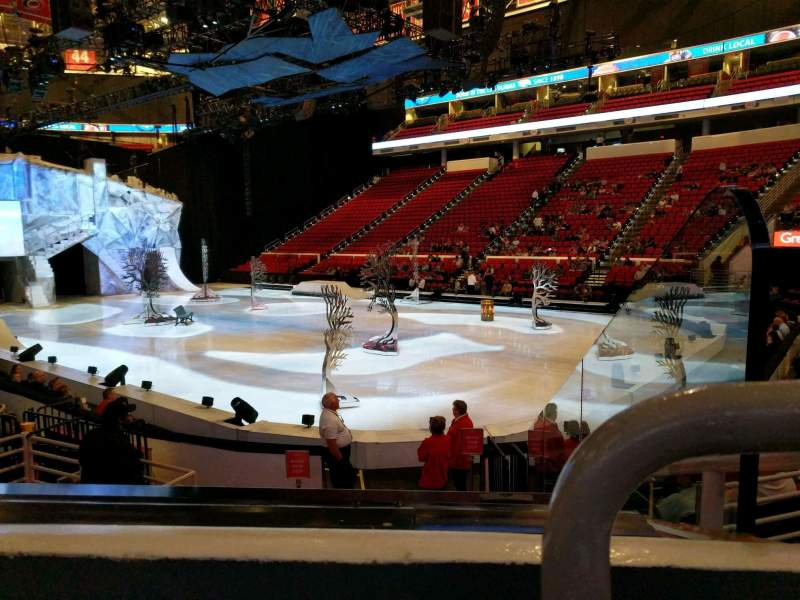 Seating view for PNC Arena Section 130 Row k Seat 1