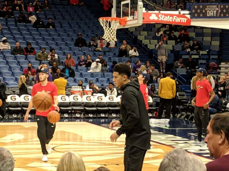 Seating view for Smoothie King Center Section 124 Row 6 Seat 4