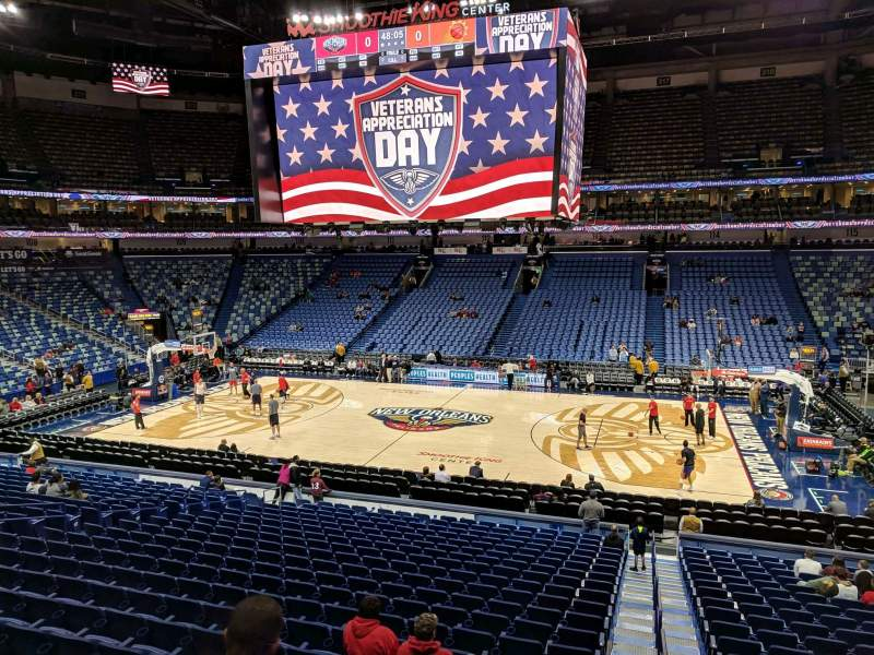 Seating view for Smoothie King Center Section 124