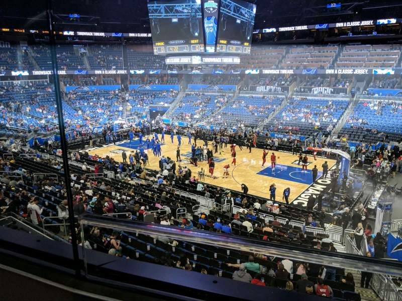 Seating view for Amway Center Section Club A Row 1 Seat 15