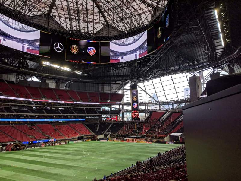 Seating view for Mercedes-Benz Stadium Section 114 Row 38 Seat 24