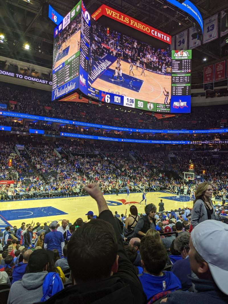 Seating view for Wells Fargo Center Section 123 Row 14 Seat 15