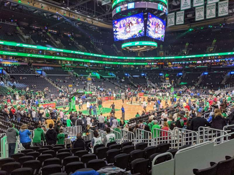 Seating view for TD Garden Section loge 15