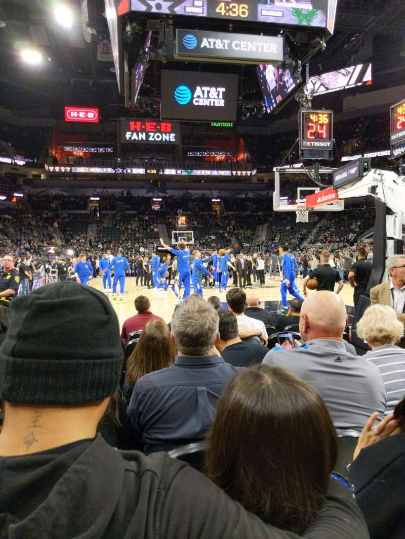 Seating view for AT&T Center Section 101 Row 6 Seat 5