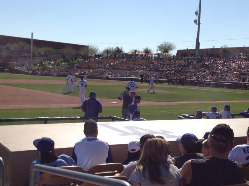 Seating view for Camelback Ranch Section 25 Row 9 Seat 1