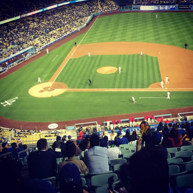 Seating view for Dodger Stadium Section 10RS Row S Seat 19