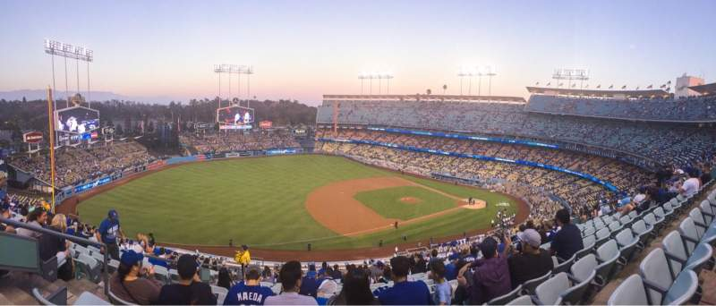 Seating view for Dodger Stadium Section 27RS Row S Seat 20