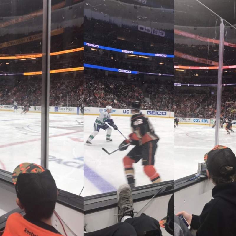 Seating view for Honda Center Section 221 Row B
