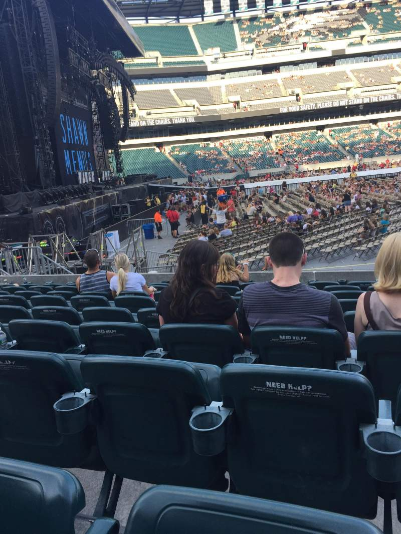 Seating view for Lincoln Financial Field Section 136 Row 9 Seat 5
