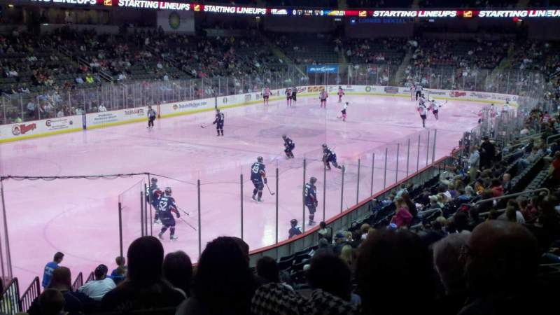 Seating view for Huntington Center Section 110 Row t Seat 9