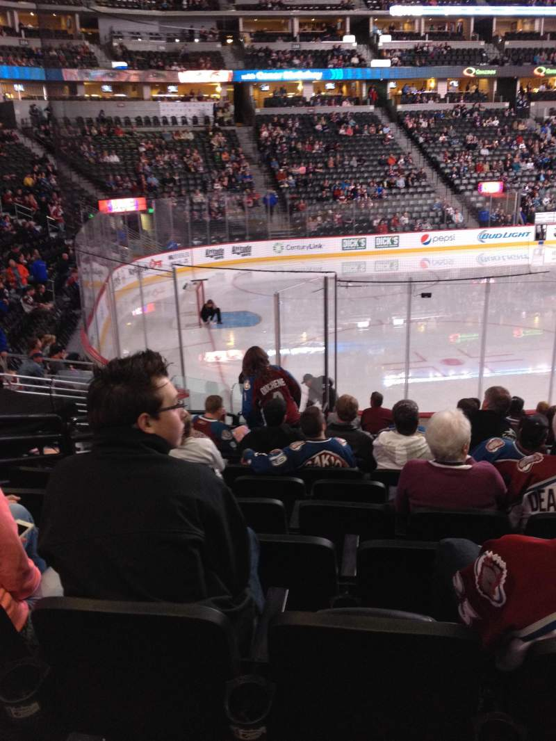 Seating view for Pepsi Center Section 130 Row 14 Seat 11