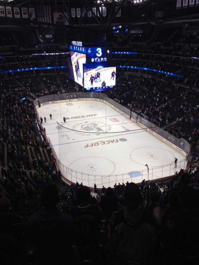 Seating view for Pepsi Center Section 366 Row 11 Seat 7