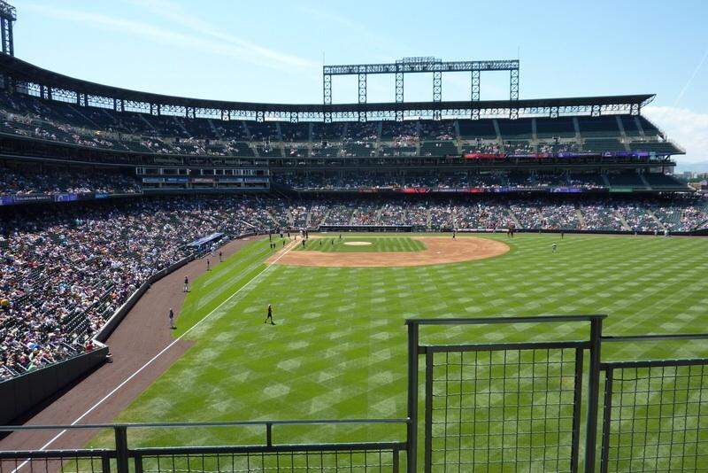 Seating view for Coors Field Section 206 Row 2 Seat 7