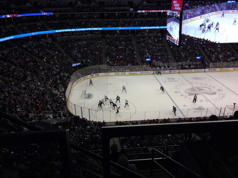 Seating view for Pepsi Center Section 346 Row 6 Seat 13