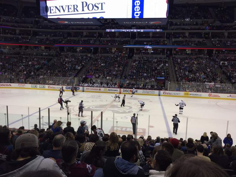 Seating view for Pepsi Center Section 124 Row 17 Seat 9