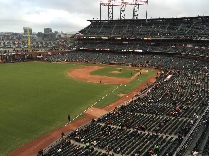 Seating view for AT&T Park Section VB332 Row A Seat 14