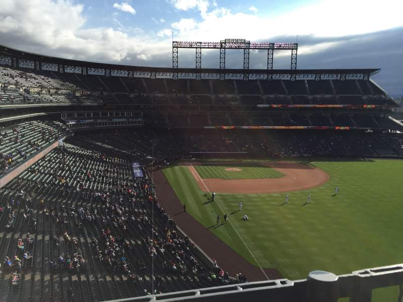 Seating view for Coors Field Section L309 Row 1 Seat 13