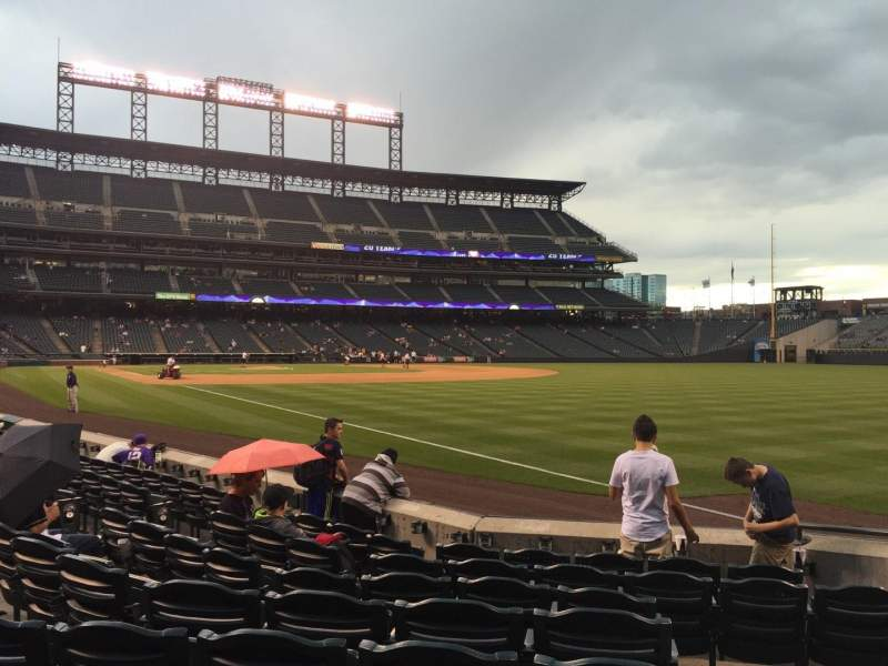 Seating view for Coors Field Section 115 Row 8 Seat 1